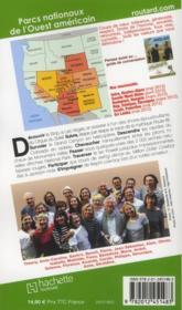 Guide Du Routard ; Parcs Nationaux De L'Ouest Américain (Edition 2012) - 4ème de couverture - Format classique