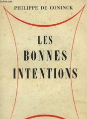 Les Bonnes Intentions. - Couverture - Format classique