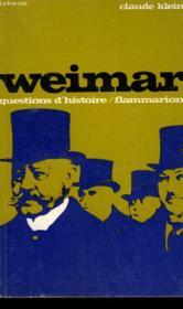 Weimar. Collection : Questions D'Histoire N° 4. - Couverture - Format classique