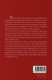 Paris poète - 4ème de couverture - Format classique
