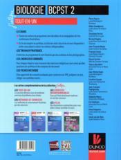 Biologie tout-en-un BCPST 2e année (4e édition) - 4ème de couverture - Format classique