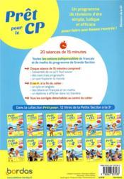 PRET POUR ; le CP ; français ; mathématiques (édition 2019) - 4ème de couverture - Format classique