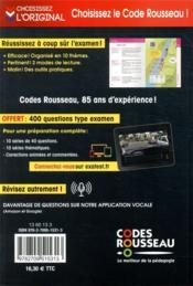 Code Rousseau ; le code de la route (édition 2021) - 4ème de couverture - Format classique