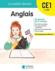 Les petits devoirs ; anglais ; CE1 - Couverture - Format classique