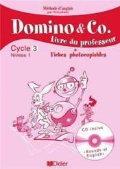 DOMINO & CO ; cycle 3, niveau 1 ; livre du professeur + fiches photocopiable - Couverture - Format classique