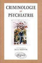 Criminologie Et Psychiatrie - Intérieur - Format classique