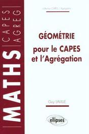 Geometrie Pour Le Capes Et L'Agregation - Intérieur - Format classique