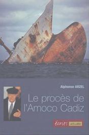 Le procès de l'Amoco Cadiz - Couverture - Format classique