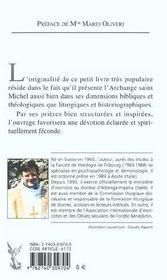 Le Prince Des Anges, Saint Michel - 4ème de couverture - Format classique