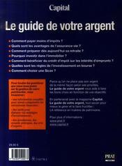 Guide de votre argent (édition 2008) - 4ème de couverture - Format classique