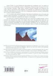 L'Inde dans les arts de la Guadeloupe et de la Martinique ; héritages et innovations - 4ème de couverture - Format classique