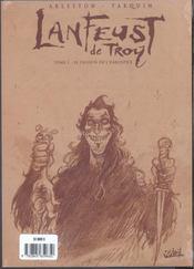 Lanfeust de Troy t.5 ; le frisson de l'haruspice - 4ème de couverture - Format classique