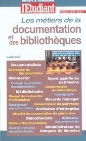 Les métiers de la documentation et des bibliothèques - Intérieur - Format classique