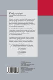 L'Inde classique ; manuel des études indiennes t.2 - 4ème de couverture - Format classique