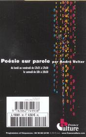 Revue poesie vagabondages n30 - 4ème de couverture - Format classique
