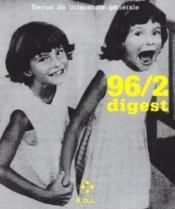 Revue De Litterature Generale 96/2 - Couverture - Format classique