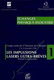 Les impulsions lasers ultra-breves - Couverture - Format classique