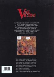 Vae victis T.7 ; York le bateleur - 4ème de couverture - Format classique