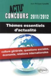 Thèmes essentiels d'actualité (2011-2012) - Couverture - Format classique