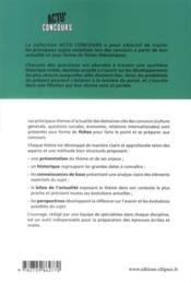 Thèmes essentiels d'actualité (2011-2012) - 4ème de couverture - Format classique