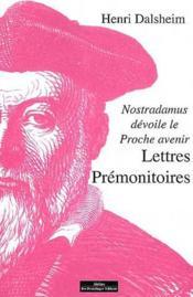Lettres prémonitoires - Couverture - Format classique
