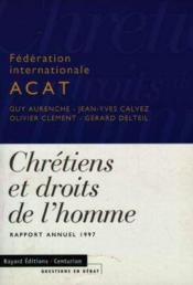 Chretiens Et Les Droits De L'Homme (Les) - Couverture - Format classique