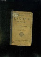 PETIT LEXIQUE FRANCAIS GREC EN VUE DES EXERCICES D APPLICATION SUR LA DECLINAISON ET LA CONJUGAISON. 8em EDITION. - Couverture - Format classique
