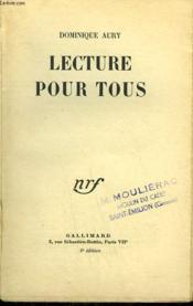 Lecture Pour Tous. - Couverture - Format classique
