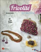 Frivolité avec des perles - Couverture - Format classique