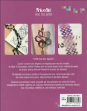 Frivolité avec des perles - 4ème de couverture - Format classique