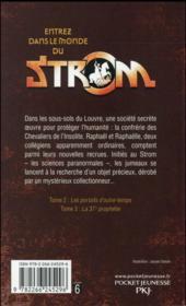 Strom T.1 ; le collectionneur - 4ème de couverture - Format classique