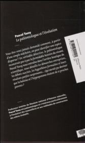 Le paléontologue et l'évolution - 4ème de couverture - Format classique