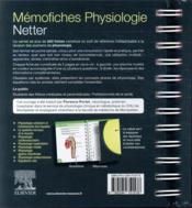 Mémo-fiches ; physiologie Netter - 4ème de couverture - Format classique