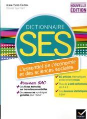 Dictionnaire SES (édition 2020) - Couverture - Format classique