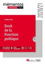 Droit de la fonction publique (édition 2020/2021) - Couverture - Format classique