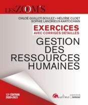 Gestion des ressources humaines ; exercices avec corrigés détaillés (édition 2020/2021) - Couverture - Format classique