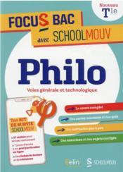 Philo, voies générale et technologique - Couverture - Format classique
