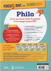 Philo, voies générale et technologique - 4ème de couverture - Format classique