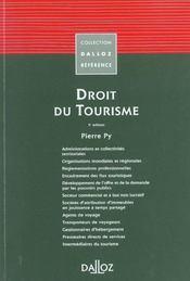 Droit du tourisme (5e édition) - Intérieur - Format classique