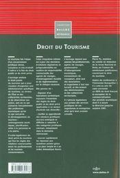 Droit du tourisme (5e édition) - 4ème de couverture - Format classique