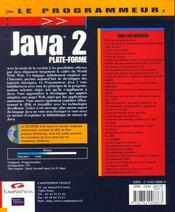 Le Programmeur Java 2 - 4ème de couverture - Format classique