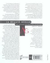 La Beaute Reelle, Une Defense Du Realisme Esthetique - 4ème de couverture - Format classique