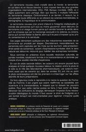 Un terrorisme à visage humain (2e édition) - 4ème de couverture - Format classique