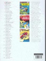 Ric Hochet ; INTEGRALE VOL.1 - 4ème de couverture - Format classique