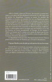La malédiction des Médicis t.1, le prince sans couronne - 4ème de couverture - Format classique