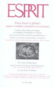 Revue Esprit N.329 ; Entre Local Et Global : Espaces Inédits, Frontières Incertaines - Couverture - Format classique