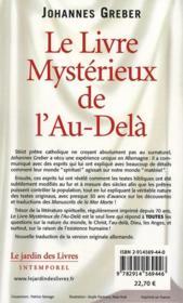 Le livre mystérieux de l'au-delà - 4ème de couverture - Format classique