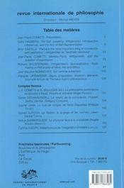 Revue Internationale De Philosophie N.219 ; Ludwig Wittgenstein - 4ème de couverture - Format classique