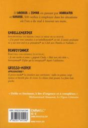 Dictionnaire des verbes qui manquent - 4ème de couverture - Format classique