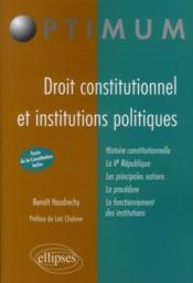 Droit constitutionnel & institutions publiques - Couverture - Format classique